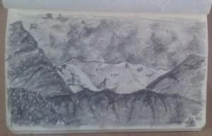 lago di Como                     montagne a nord