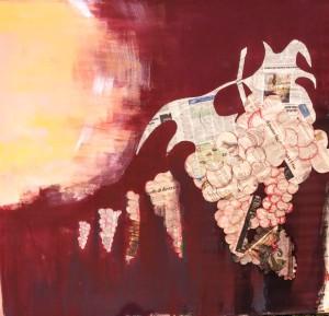 ...laudato si... Erbusco 2018 collage acrilico su tela 150 x 150