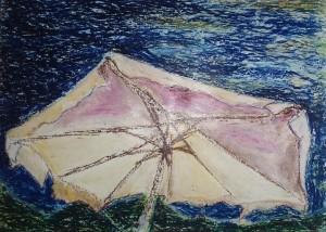 medusa     pastelli ad olio su cartoncino