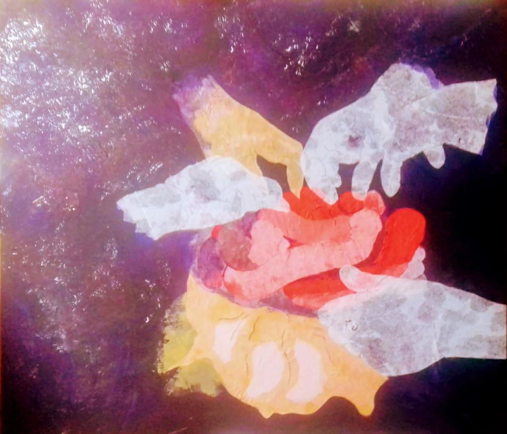viscerale collagea-acrilico su tela 80 x 60 febbraio 2019
